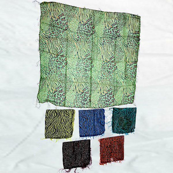 Cotton lurex printed scarves